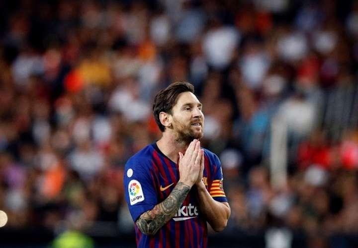 El delantero Lionel Messi marcó el gol del empate ante el Valencia. Foto: EFE