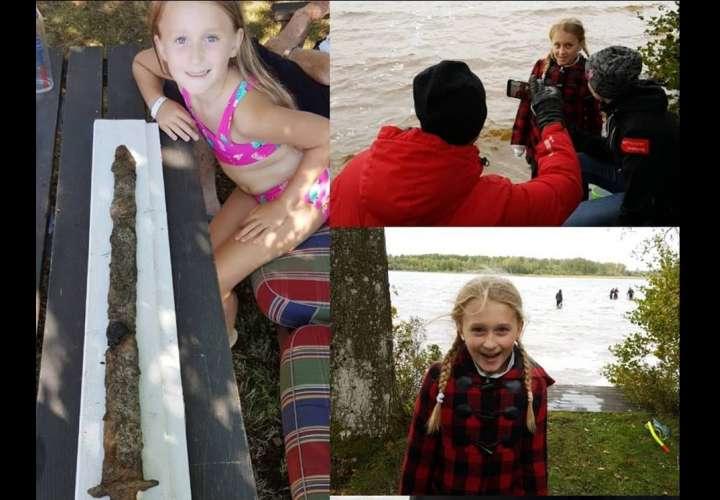Niña de 8 años encuentra espada de la era pre-Vikinga del lago de Suecia (Fotos)