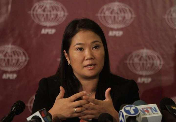 En la imagen, la líder del partido Fuerza Popular, Keiko Fujimori. EFEArchivo