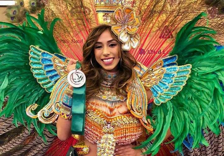 Diana Lemos gana medalla de plata por vestuario en el Miss Earth
