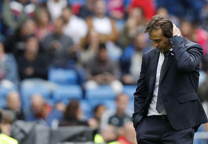 El entrenador del Real Madrid Julen Lopetegui, durante el partido de la 9ª jornada de La Liga. Foto: EFE