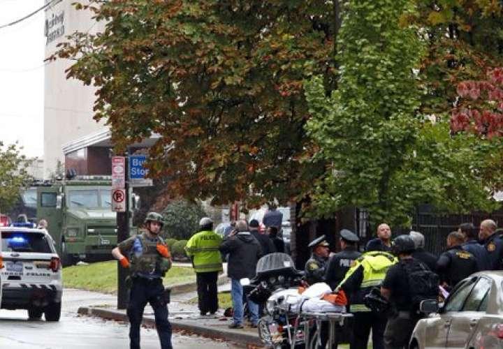 Once muertos y seis heridos deja el tiroteo en una sinagoga de EE.UU.