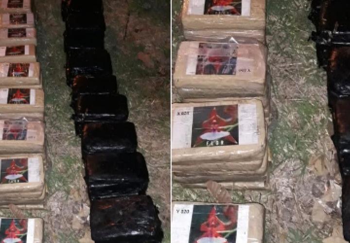 Decomisan 117 paquetes de coca y marihuana en playa de Costa Esmeralda