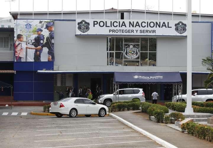 Vista externa de la sede de la Policía Nacional del área metropolitana. Foto: Archivo