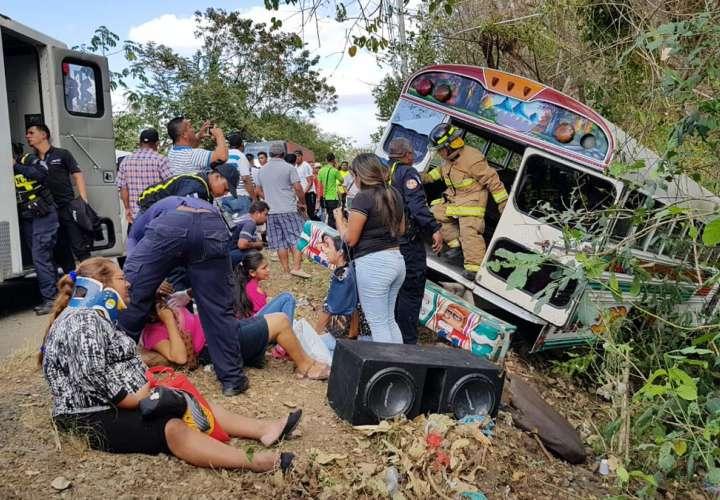 La mayoría de los herido no era de gran consideración. Foto: @TraficoCPanama