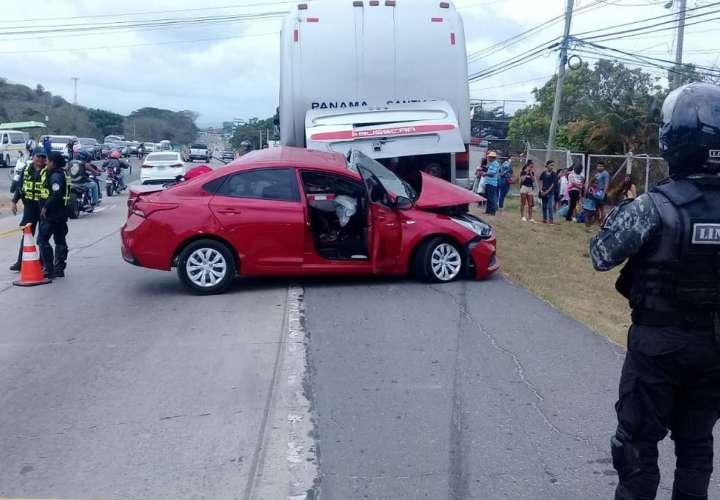 Vista general del lugar del accidente. Foto: @BCBRP