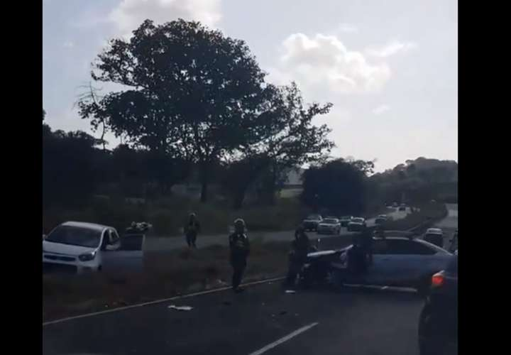 Vista general del área del accidente. Captura de video: @TraficoCPanama