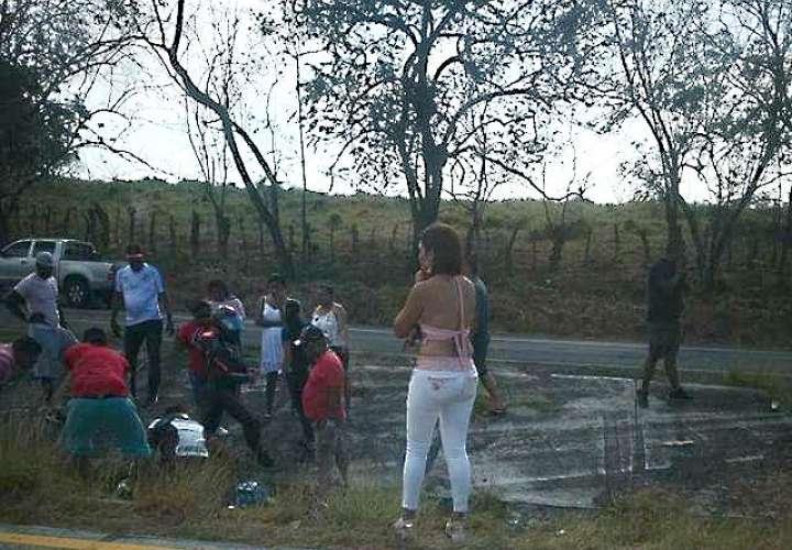 Vista general del lugar del accidente. Foto: @TraficoCPanama