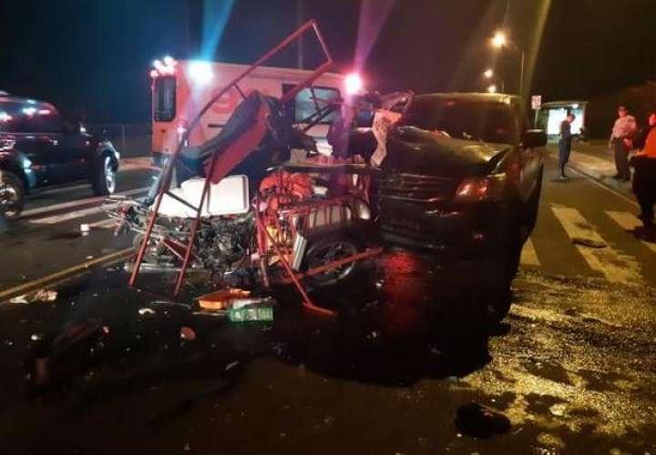 Vista general de la escena del accidente. Foto: @TraficoCPanama