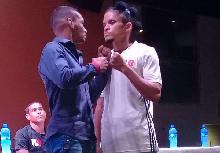 """Carlos """"Arañita"""" Ortega (izq.) y Johnny Garay están listos para medirse este jueves. Foto: Joel Isaac González"""