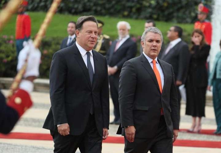 Duque recibe a Varela con honores para reforzar la cooperación bilateral