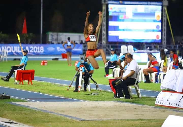 En su último evento, la deportista hizo un salto de 6.28 metros. Foto: Comité Olímpico de Panamá