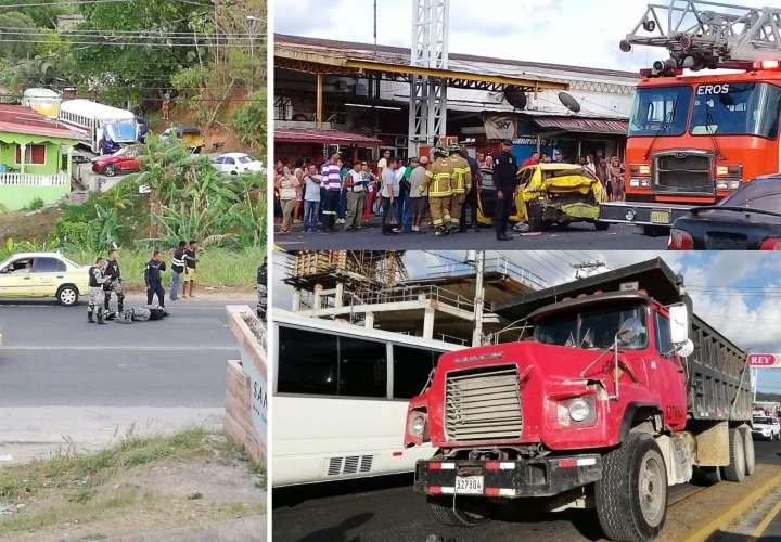 Vista general de los accidentes en Colón. Fotos: Diómedes Sánchez