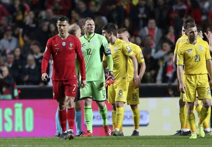 Amargo empate entre Portugal y Ucrania en el regreso de Cristiano Ronaldo