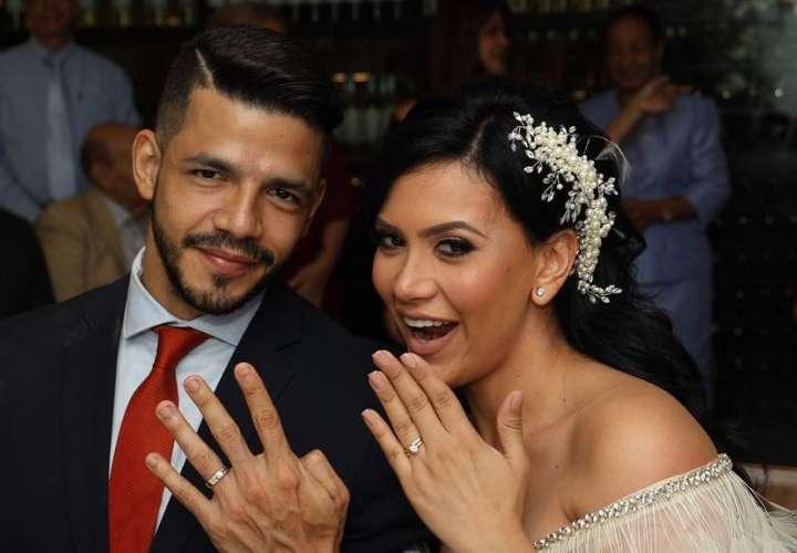 ¡Felicidades a los novios! Gladys Brandao se casó con Ernesto Herrera