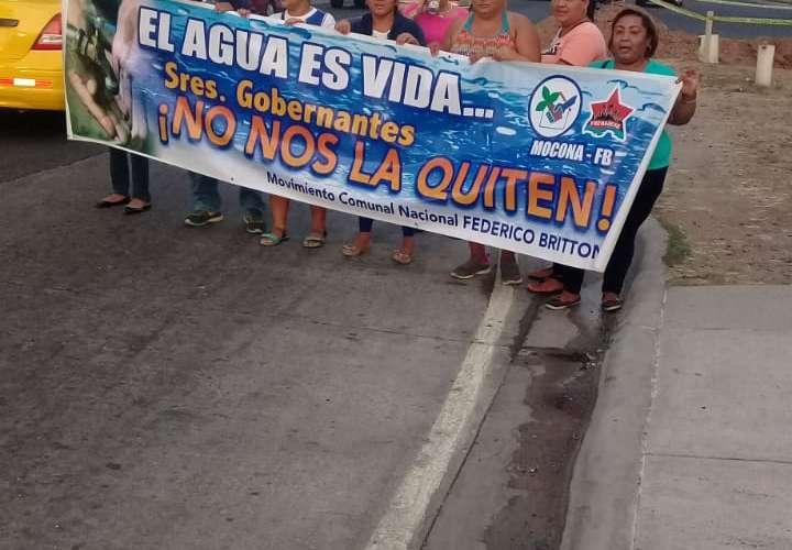 Salen a protestar por el derecho al agua
