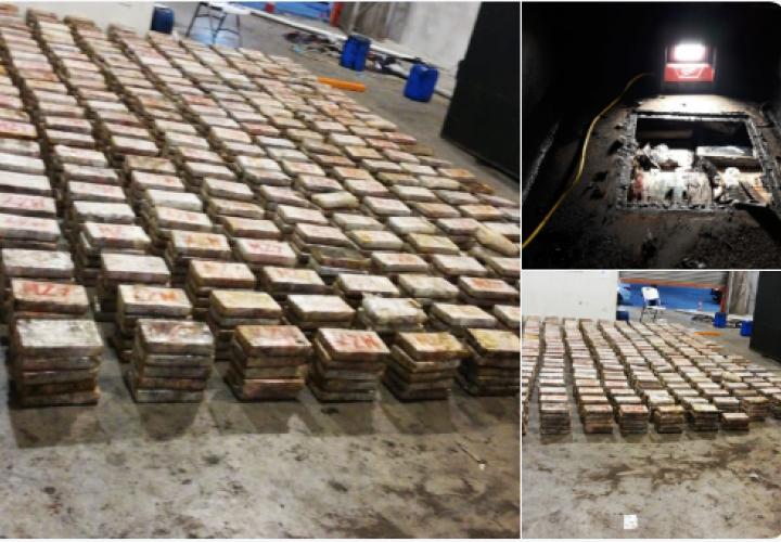 Decomisan 2,547 paquetes de droga en una bodega en Albrook