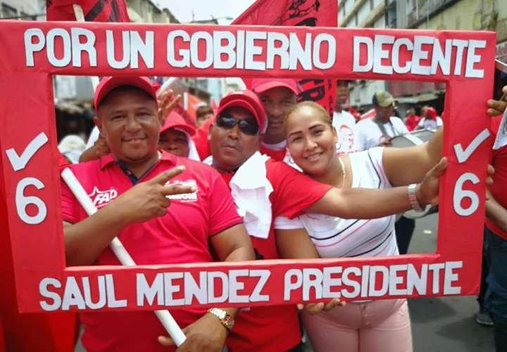 La marcha estuvo marcada por la política. Foto: @frenadeso