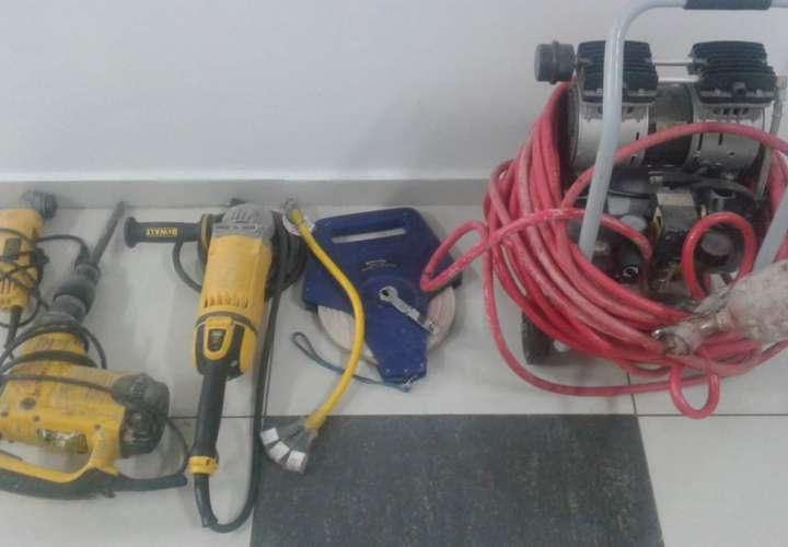 Recuperan herramientas hurtadas en una casa de Arraiján