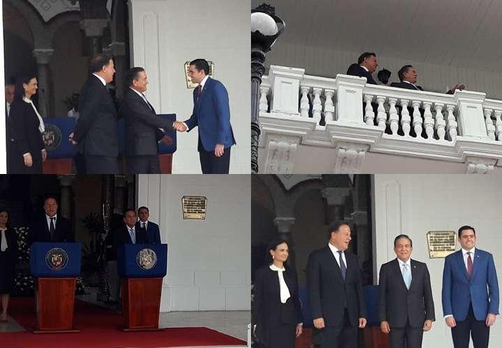 La reunión tardó más de dos horas, ambos presidentes hicieron un recorrido por el Palacio De Las Garzas. Fotos: Jean Carlos Díaz