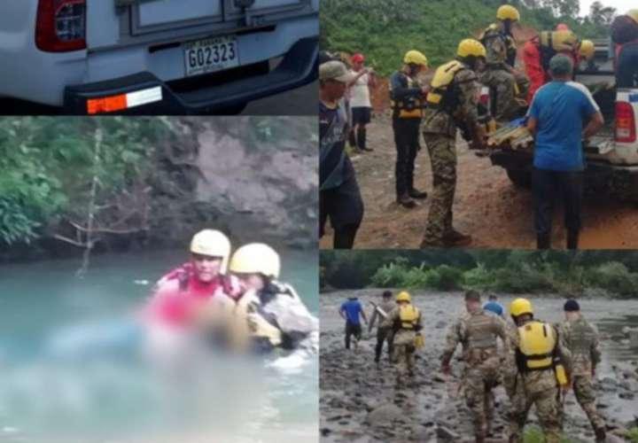 El Sinaproc recomienda a las personas no arriesgar sus vidas al intentar cruzar los ríos con el mal tiempo. Fotos: Redes Sociales/Eric A. Montenegro