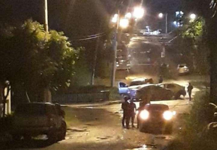 Lugar donde se registró la triple colisión en Villa Zaíta. Foto: Cortesía