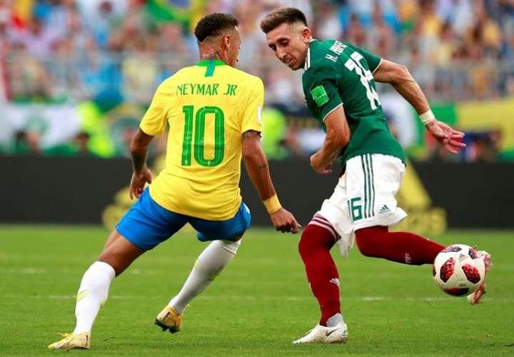 Neymar vuelve como la figura más destacada de la Canarinha y recuperado de la lesión en el tobillo derecho. Foto: EFE