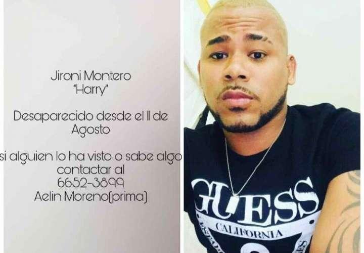 Jironi Montero, desaparecido desde el pasado 10 de agosto.