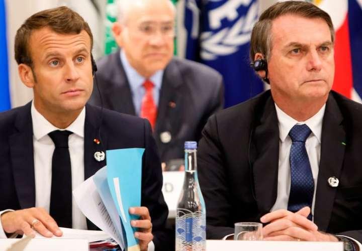 Emmanuel Macron llamó mentiroso al presidente Brasil