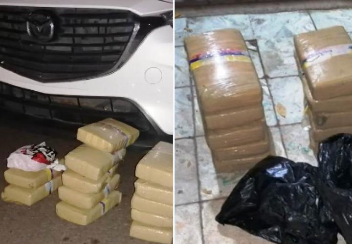 Detienen a 4 personas por tráfico de droga en Aguadulce