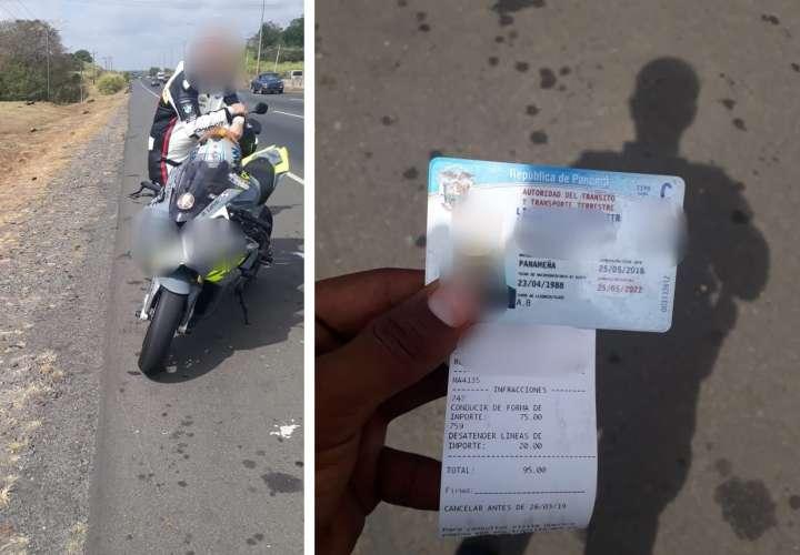Más de 13 mil infracciones a motociclistas por manejo desordenado