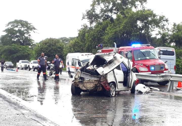 9 heridos deja triple colisión en Santa María [Video]