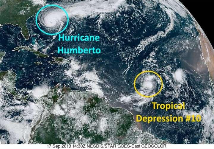 Huracán Humberto se hace más fuerte y grande en su camino a las Bermudas (Video)
