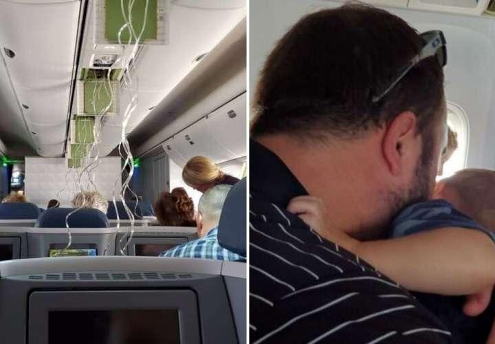 ¡Qué susto! Avión cae en picada y los pasajeros se encomiendan a Dios