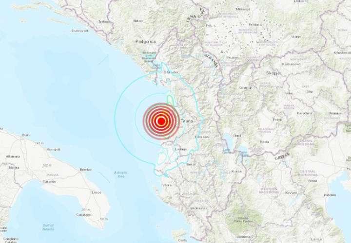 Doble sismo sacude a Albania