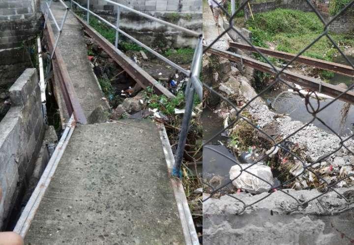 Inseguridad y falta de un puente en San Miguelito