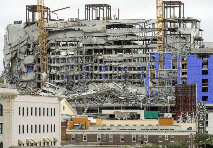 Captan el video el desplome del edificio en construcción del Hard Rock Hotel