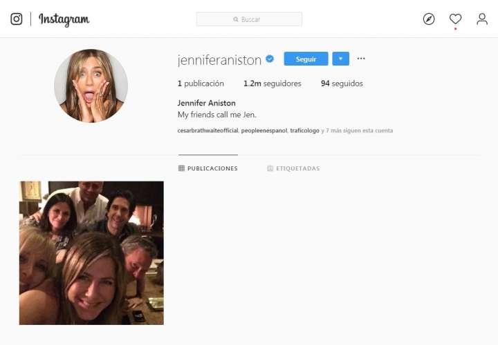 Jennifer Aniston se une a Instagram y supera 100.000 seguidores en media hora