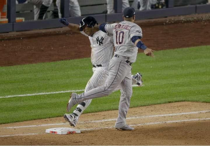 Cuarto juego de serie Astros vs Yankees fue pospuesto para mañana jueves