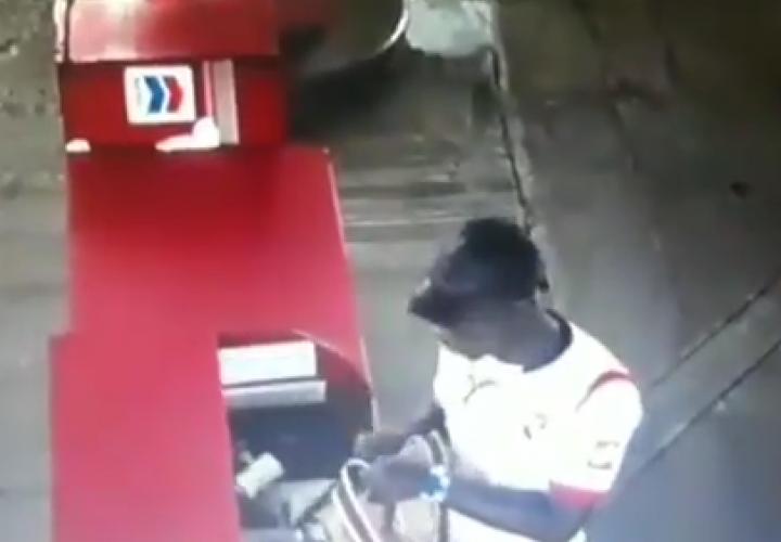 Lo graba la cámara de la gasolinera [Video]