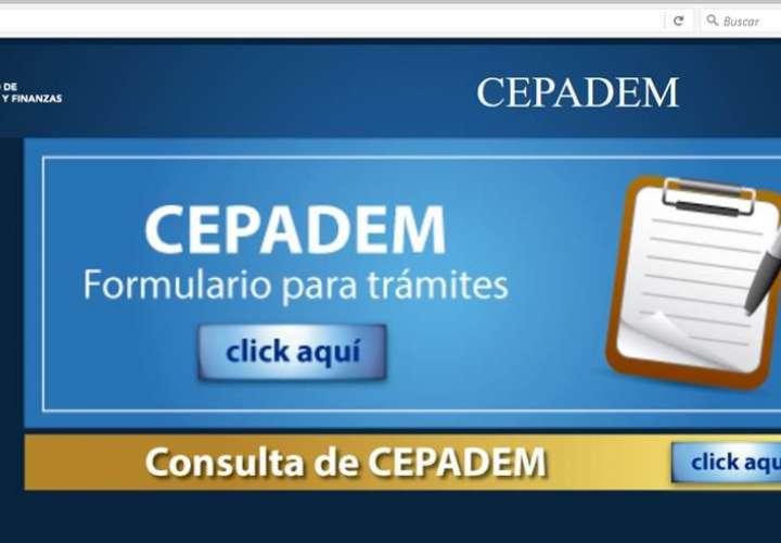 MEF anuncia mantenimiento de la web del CEPADEM