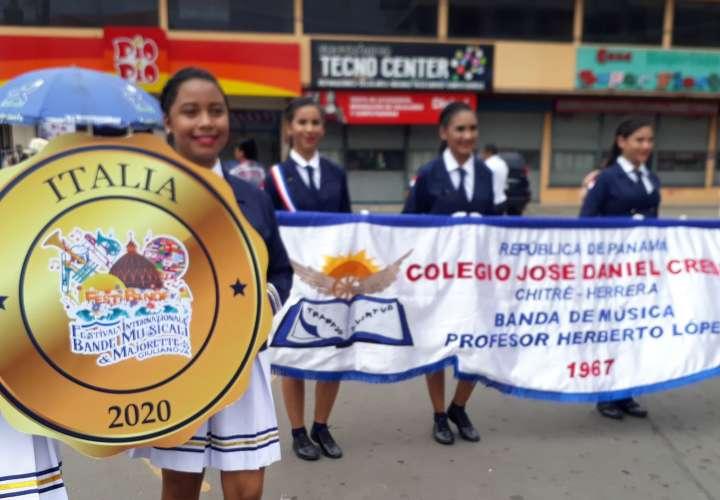 Banda del colegio José Daniel Crespo rumbo a Italia en 2020