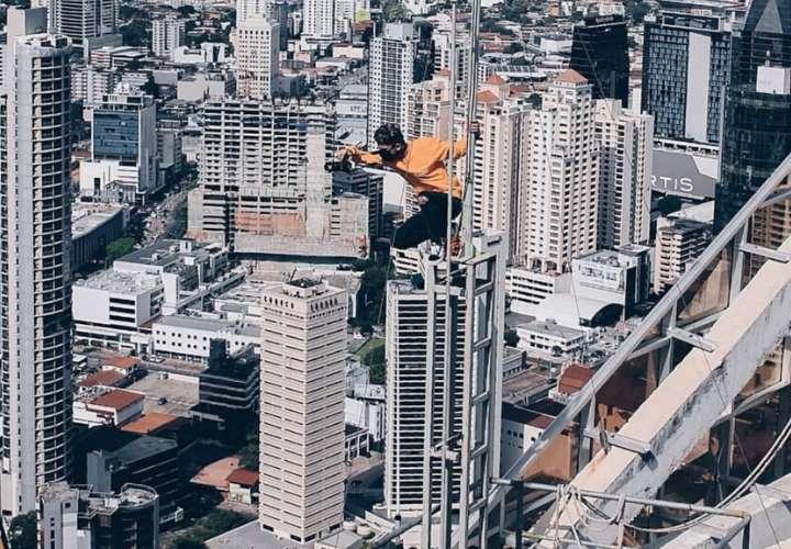 """Sebastián Vargas desea que en Panamá haya mayor apoyo a los que hacen """"rooftoper"""". Foto: Cortesía."""