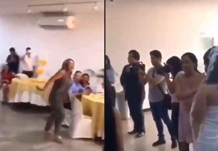 Interrumpió una boda, le dijo al novio que lo quería y golpeó a la novia