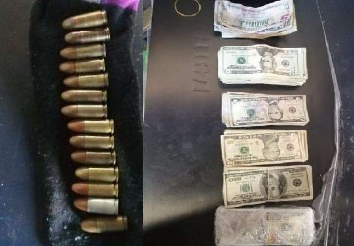 Allanan casa y encuentran 23 mil dólares en efectivo, armas y balas