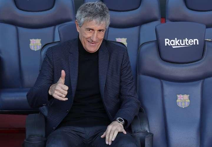 Quique Setien, entrenador del Barcelona,