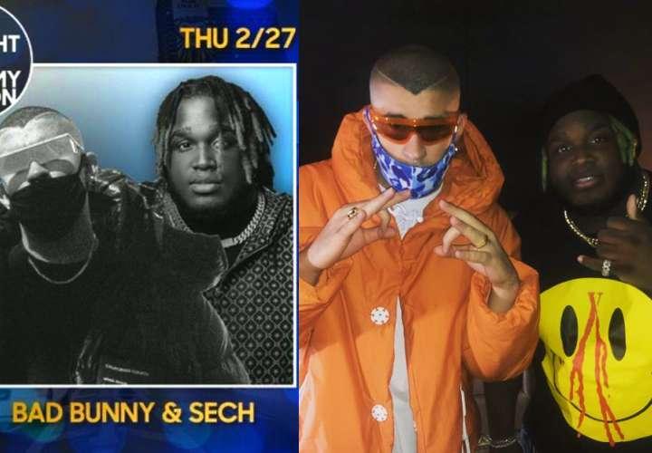 ¡Bien fino! Sech y Bad Bunny cantarán en el 'show' de Jimmy Fallon