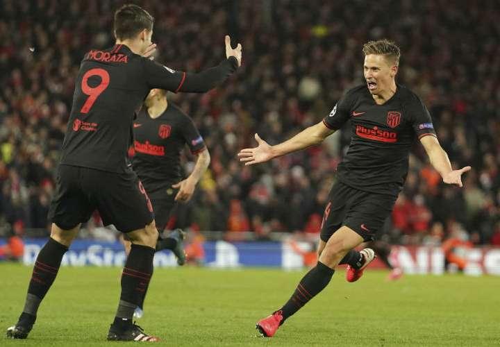 El Atlético de Madrid elimina al campeón Liverpool