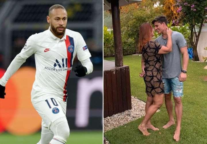 Neymar felicita a su madre y a su nuevo padrastro de 22 años