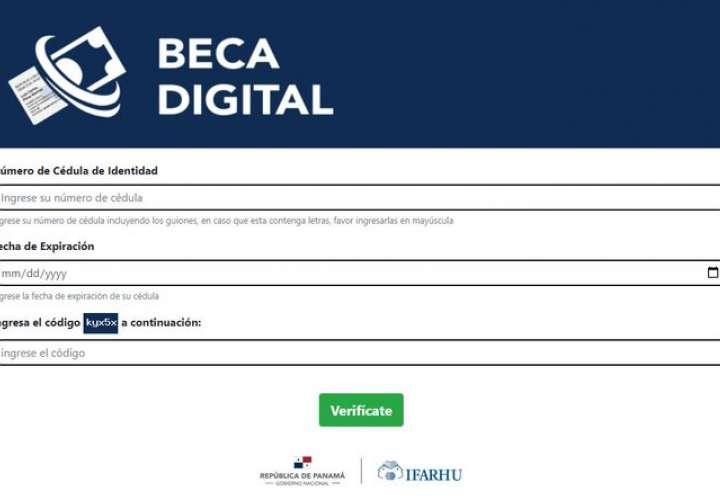 Habilitan plataforma digital para verificar pago de Beca Universal